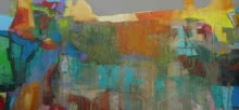 Read The City 5 | Painting by artist Abhishek Kumar | oil | Canvas