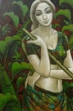 Radhika 1 | Painting by artist Sukanta Das | mixed-media | Canvas