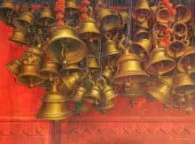 Religious Acrylic Art Painting title 'Varanasi 11' by artist Anil Yadav