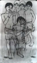 Hope To Meet At Infinity 8 | Drawing by artist Avi Roy | | ink-pastel | Fabriano Paper