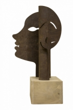 Mild Steel, Wood Sculpture titled 'Untitled 14' by artist Milan Desai
