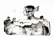 Figurative Ink Art Drawing title Untitled 9 by artist Milan Desai