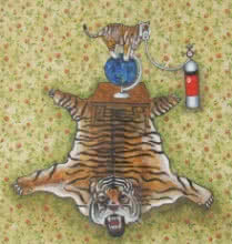 Manisha Agrawal | Acrylic Painting title Animal Endangered 10 on Paper