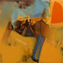 Shrikant Kadam Paintings | Abstract Painting - Untitled 153 by artist Shrikant Kadam | ArtZolo.com