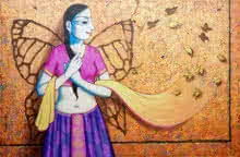 Pravin Utge | Acrylic Painting title I Have Wings on Canvas | Artist Pravin Utge Gallery | ArtZolo.com