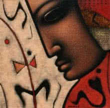 Religious Acrylic Art Painting title 'Shiv 1' by artist Sanjay Bhalerao