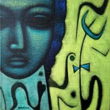 Religious Acrylic Art Painting title 'Shiv 3' by artist Sanjay Bhalerao