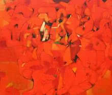Abstract Oil Art Painting title 'Untitled 9' by artist Yogesh Murkute
