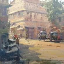 Suresh Jangid   Acrylic Painting title Flow Of Boldness on Stretch Canvas   Artist Suresh Jangid Gallery   ArtZolo.com