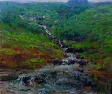Nature Acrylic Art Painting title Landscape 2 by artist Suresh Jangid