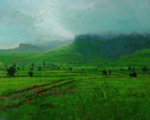 Nature Acrylic Art Painting title 'Landscape 7' by artist Suresh Jangid
