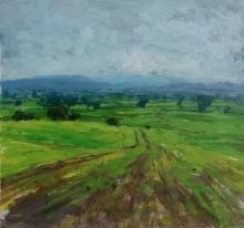 Nature Acrylic Art Painting title Landscape 9 by artist Suresh Jangid