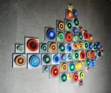 Cardboard, Wood Sculpture titled 'Installation 56' by artist Sanjay Dhawan