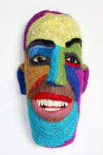 Mixed Media Sculpture titled 'Face 13' by artist Archana Rajguru