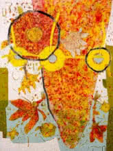 Abstract Mixed-media Art Painting title Untitled A by artist Pankaj Kumar Singh