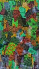 Abstract Mixed-media Art Painting title Untitled L by artist Pankaj Kumar Singh