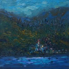 Landscape Acrylic Art Painting title 'Landscape 4' by artist Shubham Kesur