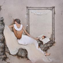 Figurative Acrylic Art Painting title Untitled 12 by artist Mintu Mallick