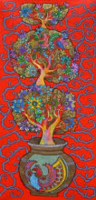 Nature Acrylic Art Painting title Prakruthi 8 by artist Neeraja Kongara