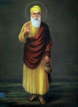 Religious Pastel Art Drawing title Guru Nanak by artist Sabir Hussain