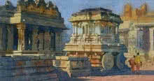 Hampi | Painting by artist Vishal Chavan | watercolor | Paper