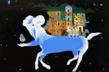 contemporary Acrylic Art Painting title Mumbai 2 by artist Satish Patil