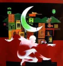 contemporary Mixed-media Art Painting title Mumbai 5 by artist Satish Patil