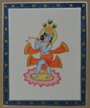 art, traditional, miniature, paper, religious, god, bal krishna