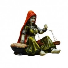 Rajasthani Lady Statue | Craft by artist E Craft | Synthetic Fiber