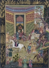 Traditional Indian art title Mughal on Cloth - Mughal Paintings