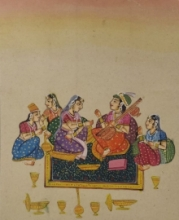 Unknown | Mughal Traditional art title Mughal 2 on Cloth | Artist Unknown Gallery | ArtZolo.com