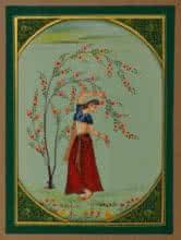 art, traditional, miniature, paper, figurative