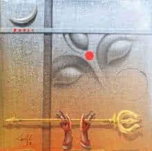 Durgeswaree | Painting by artist Gopal Chowdhury | acrylic | Canvas
