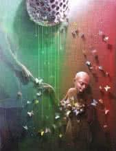 Figurative Acrylic Art Painting title Love Infinity by artist Gopal Chowdhury