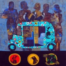 Signal | Painting by artist Harshada Kolapkar | acrylic | Canvas