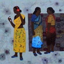Figurative Acrylic Art Painting title Sound by artist Harshada Kolapkar