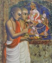 Religious Acrylic Art Painting title Ganesha by artist Sanjay Raut