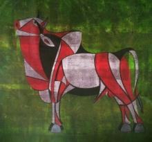 art, painting, acrylic, canvas, animal
