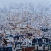 Cityscape 5 | Painting by artist Ganesh Pokharkar | oil | Canvas