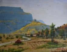 Ambadas Nagpure | Acrylic Painting title Beauty Of Nature on Canvas | Artist Ambadas Nagpure Gallery | ArtZolo.com