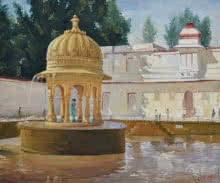 Ambadas Nagpure | Oil Painting title Harmonious Cenotaph on Canvas