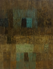 Abstract Oil Art Painting title 'Innerscapes 40' by artist Gayatri Deshpande