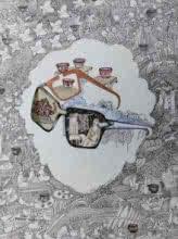 contemporary Mixed-media Art Drawing title 'Untitled 1' by artist Avijit Mukherjee