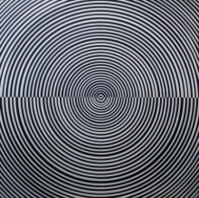Abstract Acrylic Art Painting title 'Illusion' by artist Ghanshyam Gupta