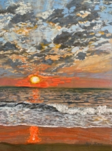 Seascape Mixed-media Art Painting title Goa Beach by artist Jaya Javeri