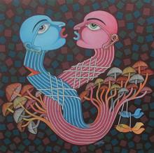 Figurative Oil Art Painting title Untitled 1 by artist Navneet Rathod