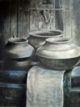 Still-life Acrylic Art Painting title 'Untitled 14' by artist Rajashree Sutar