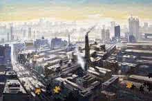 Top View Of Mumbai | Painting by artist Ananta Mandal | watercolor | Paper