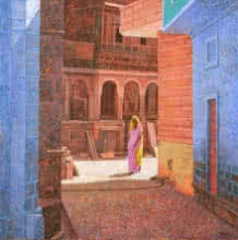 Afternoon In Pokharan | Painting by artist Gopal Nandurkar | acrylic | Canvas