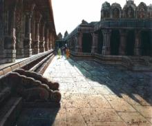 Religious Oil Art Painting title Vitthala Temple Hampi 32 by artist Pravin Pasare
